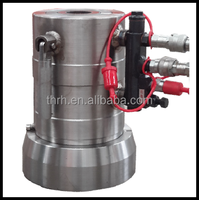 Three Stage Double Acting Hydraulic Cylinder With Overflow Valve
