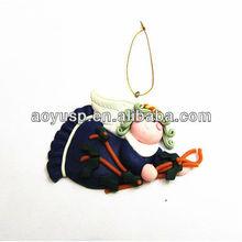 Polymer clay flying girl Angel Christmas pendants charms