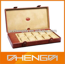 Guangzhou Factory Customized Made-in-China Leather Elegant Watches Storage Box(ZDL13-W018)