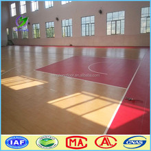 indoor synthetic basketball court pvc laminate flooring