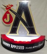 LED Lighted Sign ANHEUSER-BUSCH bright BEER bud BAR for Johnny Appleseed Hard Cider