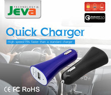Hot Selling Car Accessories 9V 2A Usb Car Charger Colorful Automatic Mobile Phone Charger