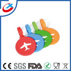 eco-friendly 3D soft silicone rubber luggage tag