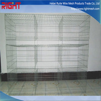 Cheap Rabbit Cages With Plastic Trays / Rabbit Hutch / Rabbit Cage Manufacturer