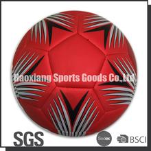 red color machine stitched pu matte football