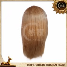 Fashion wholesale super quality human hair full lace wig blonde wigs for women