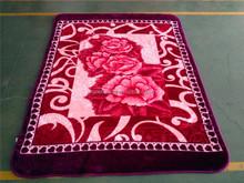 2015 new design korea style 100% polyester raschel hot embossing blankets
