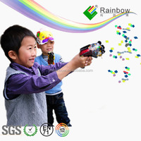 Colorful Paper Spraying Party Inflatable Plastic Kid Toy Gun