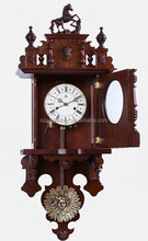 Rocking wooden antique wall clock made in china