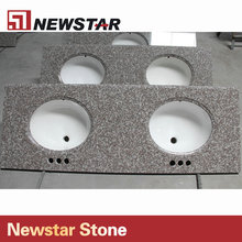 Stone countertops,commercial bathroom countertop,double bathroom sink countertop