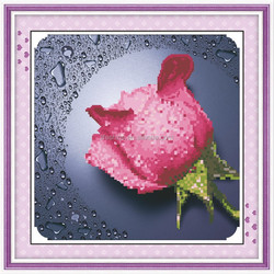 """""""Dettol Pink Rose """" New 5D round crystal diy diamond painting"""
