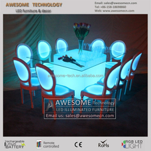 2015 luxury design event furniture wholesales led glow wedding and event chairs