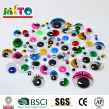 5MM colour with eyelash safe doll eyes for children diy crafts