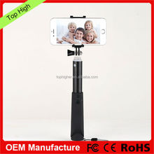 hot selling Aluminium bluetooth channel selfie stick with cable selfie monopod stick