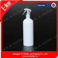white recycle aluminum aerosol bottle 500ml with sprayer