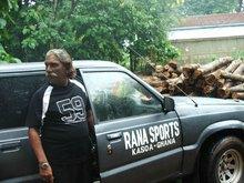 Teak wood round/rough sequire logs