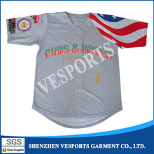 Baseball team full button jersey
