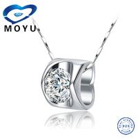 3D heart shaped silver jewelry
