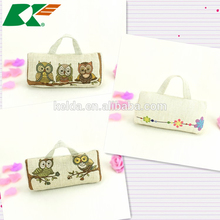 2015 Cotton and linen Cartoon owl door stop Creative household cloth art prevent wind door stop furnishing articles