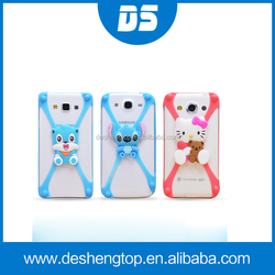 Christmas gift 3D cartoon universal silicone bumper case for mobile phone,Protective Silicone Phone Cover Bumper Case