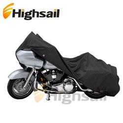 Black Waterproof Motorcycle Dust Storage Cover for Honda Kawasaki Suzuki Yamaha Harley Davidson