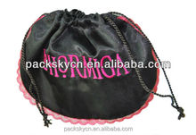 Promotional Round Satin Gift Bag With Logo