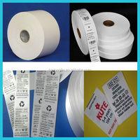wholesale polyester satin care label washing instruction symbols for garment