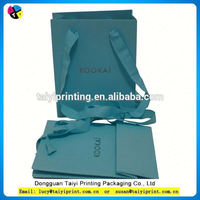high quality paper shopping cosmetic packaging bag