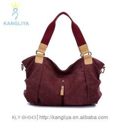 New look ladies canvas handbags blank tote bag woman shoulder factory bags