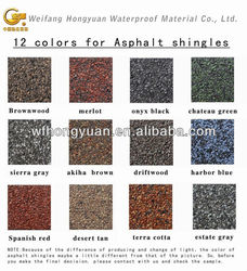 Colorful Asphalt Roof Shingle From China