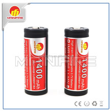 Mainifire 15A amp 18500 high drain li-mn battery 3.7v 1400mah flat top