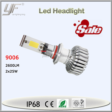 Hot sale! 12v 2x25w 2600lm 9006 led headlight for all cars auto part conversion kit