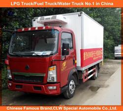 SINOTRUK China HOWO refrigerator truck, used refrigerated truck, HOWO used refrigerated van for sale