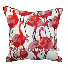Design animal printed cushion cover flamingo picture pillow