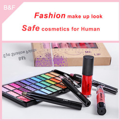 New arrival eyeshadow cosmetic set quatliry flat top contour makeup brush