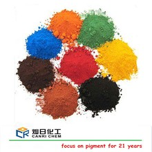 Iron oxide red yellow black blue green orange chemical used in making cement paint