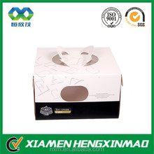 Cake paper box with clear window in front food packaging