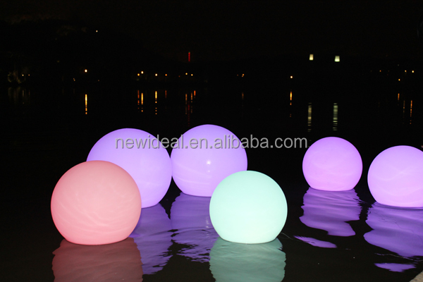 waterproof ip68 swimming pool floating light led ball. Black Bedroom Furniture Sets. Home Design Ideas