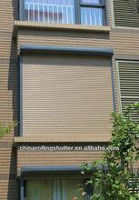 Manual Tape Aluminium roller shutters system tape/driven driving light adjustable 37mm/42mm/55mm Slats Slat