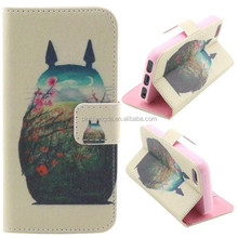 Free Sample 2015 Pu Leather with card slot and stand function animal cell phone case for iphone5