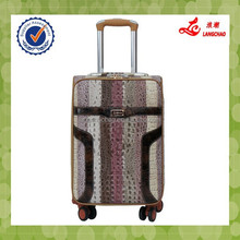 crocodile skin universal wheels push button luggage