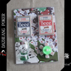poker chip set for one candle and one candle cup six dice 2 deck No.98 club special beee playing cards in blister packaging