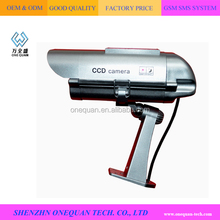 Motion detection sensor actived dummy/fake/imitation solar wireless security cctv camera for indoor or outdoor use