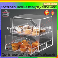 Wholesale Clear Acrylic Food Display Case for Retail Store