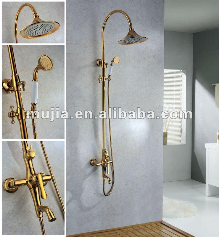 Griferia Para Baño Dorada:Grs06 Royal diseño de oro del techo de latón ducha / baño grifo de