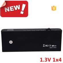 Full HD 1080P Support 3D 1x4 hdmi splitter to coaxial
