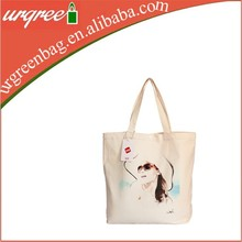 Cotton Made Natural White Girl Wholesale Tote Bag