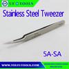 5A-SA Economy Micro Fine Tip Tweezer,Oblique Angle High Precision Tweezer, Electronic Tweezers