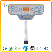 LED light polydome membrane switch for foot spa system