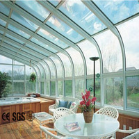 Various Choice and Good Performance Prefabricated Aluminum Glass House